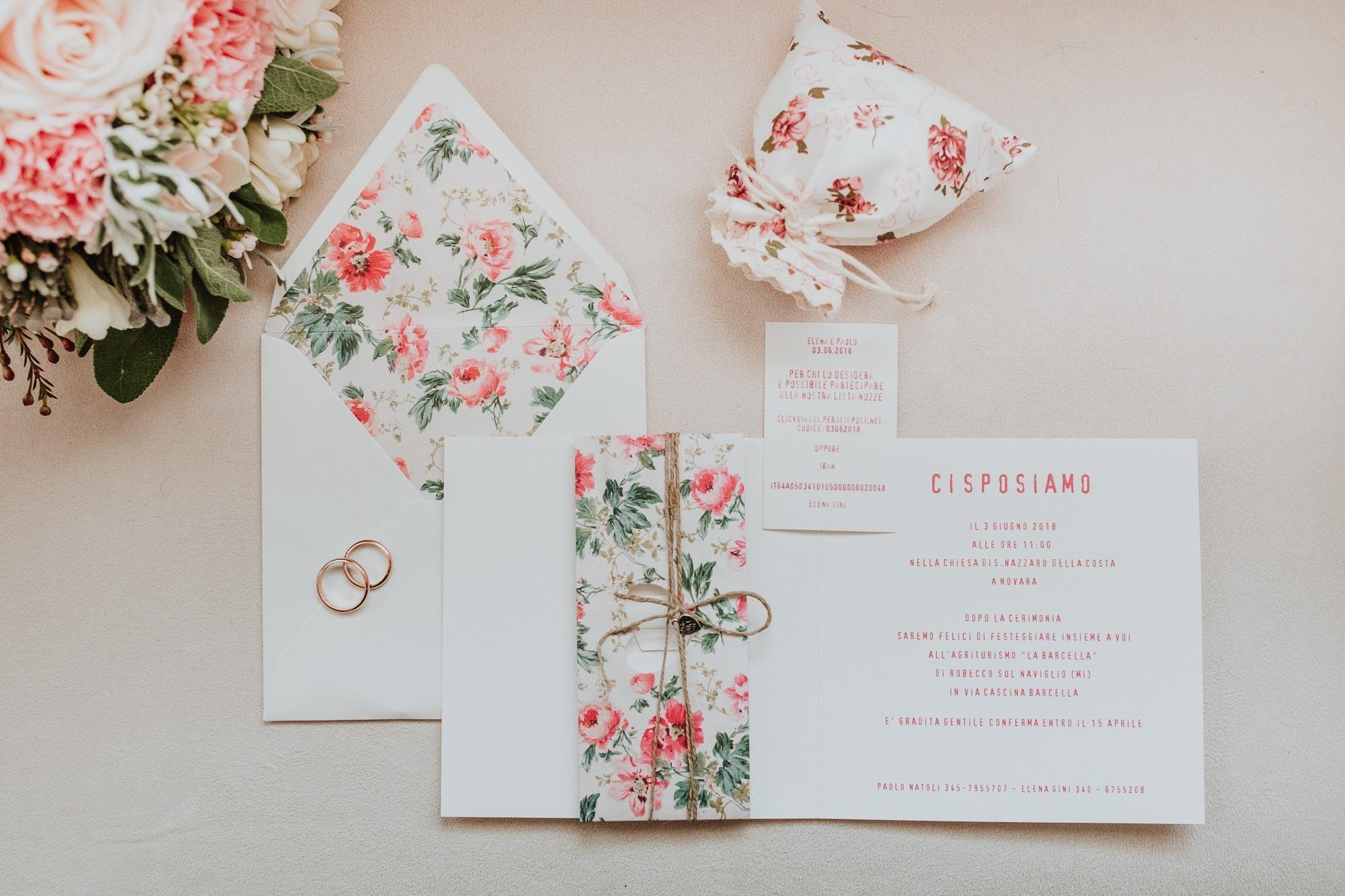 Partecipazioni con fiori e rose