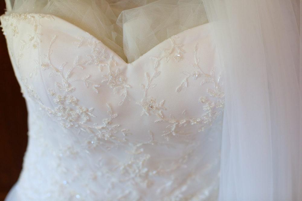 abito sposa bianco paillettes