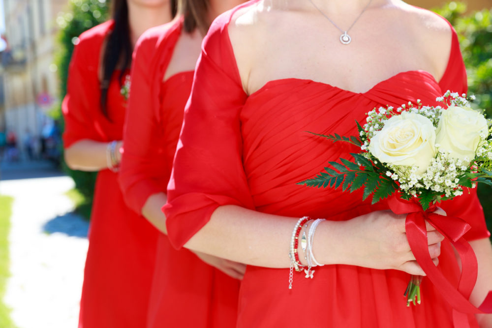 Damigelle sposa in rosso