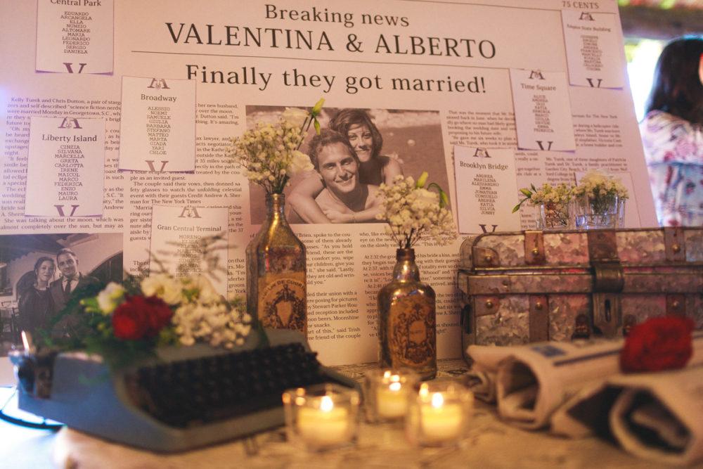tableau matrimonio tema new york