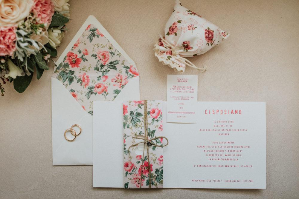 inviti e partecipazioni tema fiori romantico