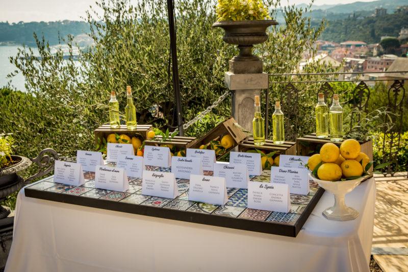 Come allestire un tableau matrimonio con i limoni