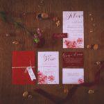 Partecipazioni matrimonio marsala e rosso