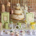 Sweet table colore verde e oro