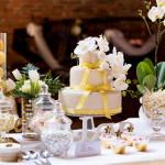 Allestimento matrimoniog giallo tema limoni
